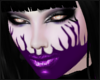 Purple Witch head+makeup