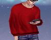Guys Red Winter Sweater