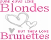Blondes and Brunettes