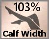 Calf Width Scale 103% FA