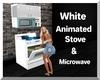 White Animated Stove