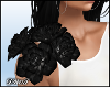 D- Floral Corsage Black