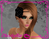 !Cs Rose Head Band Black