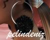 [P] Black fur earrings