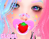 Pink Strawberry Pacifier