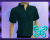 Teal Mock Collar Shirt