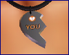 !@ Half heart necklace F
