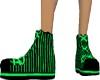 Neon Green Pinstripe
