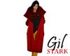 Red coat plaid Scarf
