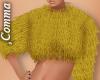 , Mustard Fur Crop Top