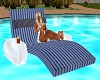 blue couple pool lounger