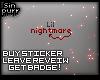 S; Badge - Lil Nightmare