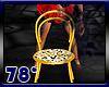 5 gold ani club chairs