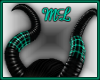 ML~ Caged horns Teal