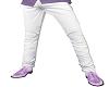 White Pants/Purple Shoes