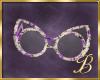 Purple Roses Glasses