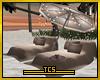 Homey beach loungers