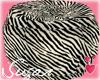 Zebra Bean Bag