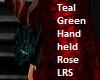 Teal Green Handheld Rose