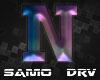 N Letter Colored Drv