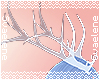 Rq! Blue Glass Antlers
