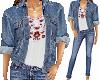 Jacket, jeans Top