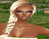 Blonde side braid