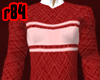 [r84] Striped RedSweater