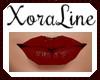 (XL)Allie Dark Red Lips