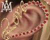*Gold LOVE Earrings*