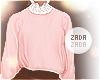 Lace Collar Sweater Blus