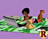 Kids laptop Panda Blanke