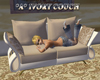 *A* Ivory couch
