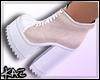 Creme Sneaker Heels