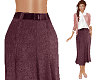 TF* Belted Midi Skirt