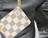 White Damier Coin Pouch