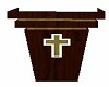CROSS IN THE PULPIT