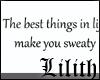Sweaty wall quote