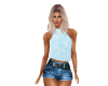 Baby Blue Floral Top