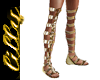 Gold gladiator boots