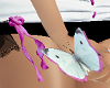 Wht Pink Hand Butterfly
