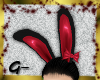 G- Bunny Ears, Black+Red