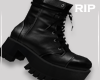 R. Black boots
