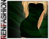 $R Green Silk Dress