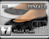 [BE] Grey Plaid Flats F