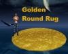 Golden Round Rug