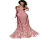 Blush feather gown