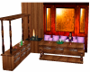 Cherry  Couch & Fire Set