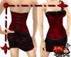 Red Velvet Corset Dress