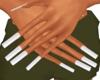 White sq. nails